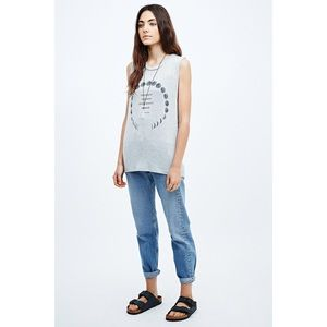 UO Truly Madly Deeply Moon Dream Tank in Grey S